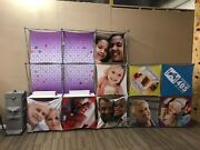 2 Xpressions Snap 8x8 And 5x5 Lights Shelfs Display Booth Backdrop Pop-up Generics