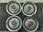 Vintage 1960and039s 1970and039s Pontiac Wire Wheel Covers Pmd Hubcaps