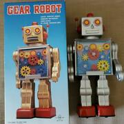 R.m. Metal House Original Series Battery Operated Gear Robot Toy Made In Japan