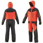 Gamakatsu Gore-tex All Weather Fishing Suit Gm-3611 Red Clothes Ems Japan