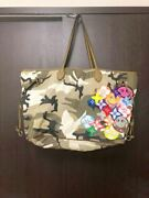 Used Readymade Roomy Bag Tote Bag W39 H52 D30cm Camouflage Color Very Rare