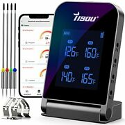 Wireless Bluetooth Meat Thermometer With 4 Probes Smart Lcd Digital Bbq Grill T