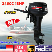 246cc 18hp Outboard Motor 2 Stroke Fishing Boat Engine Water Cooling System +cdi