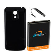 6300mah Extended Li_ion Battery Cover Charger For Samsung Galaxy S4 Mini I435 Us