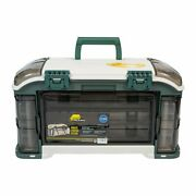 Plano Outdoor Sports Angled Fishing Tackle Box Storage System Green / Tan