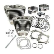 Sands Cycle 910-0221 117in. Big Bore Kit - Silver Powder-coat
