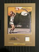 2006 Topps Turkey Red Gold Larry Bird Cabinet Card Auto Autograph Relic 5/5