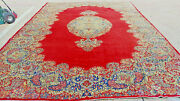 Red Antique Oriental Rug 10x15 Hand Knotted Handmade Vintage Carpet 10x16 9x15