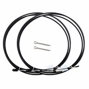2pcs 14ft Marine Throttle Control Cable For Yamaha Outboards Motors Black