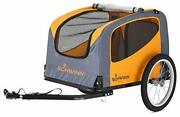 Rascal Bike Pet Trailer, For Small And Large Dogs, Small, Orange