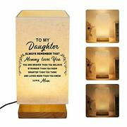 Customized Engraved Bedside Table Lamp - Modern Square Fabric Nightstand Lamp...