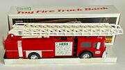 Mint New In Box 1986 Hess Toy Fire Truck Bank Made In Hong Kong