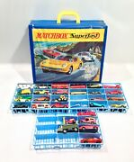 Vintage 1970 Matchbox Superfast 72 Case W/ 30 1970's Superfast Cars Look And Read