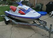 Yamaha 1100 Wave Raider And Trailer 1995 For Parts Working Engine Very Nice Body