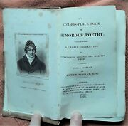 Antique Hb Book The Common-place Book Of Humorous Poetry 1826 Peter Pindar Poets