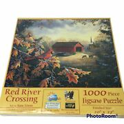 Red River Crossing 1000 Piece Jigsaw Puzzle Sam Timm Sealed Fall Cardinal New