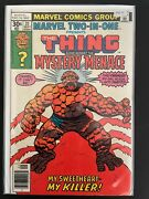 Marvel Two In One 31 Thing Vs Mystery Menace Higher Grade Marvel Comic D31-22