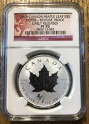 2014 1oz. Silver Canadian Maple Leaf Horse Privy - Reverse Proof Ngc Pf 70