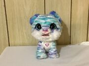Hasbro Furreal North The Sabertooth Kitty Interactive Pet Toy Blue And White Fur