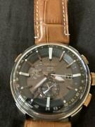 Seiko Astron Date Rare World Time Gps Solar Mens Watch Authentic Working