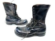 Vtg Mens Us Military Biltrite Cap Toe Combat Boots Size 10 Made In Usa 12 Eye