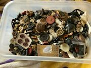 Huge Lot Of Buttons Over 9 Lbs All Shapes,sizes And Material 1