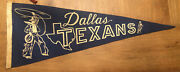 1952 Dallas Texans Football Pennant - Full Size - Extremely Rare - Great Shape