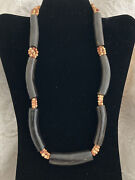 Chunky Statement Faux Bead And Horn Necklace Gerda Lynggaard Style