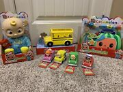 New Cocomelon Toy Set - Jj 10 Doll, School Bus, Musical Doctor Box And 4 Cars