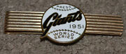 1951 New York Giants World Series Press Money Tie Clip Pin Scarce Dieges And Clust