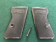 Factory German Walther Pp / Ppks Grips - Black - Nos - Nice