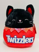 Squishmallows X Hershey Halloween 12 Autumn Cat Twizzlers Candy Plush Doll Toy