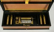 Thorens Inlaid Music Box W/5 Changeable Cylinders 20 Tunes Reuge....watch Video