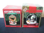 Vtghallmark Christmas Ornaments Magic Lights And Motion Lot Of Two