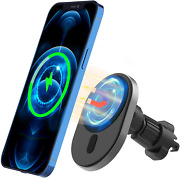 Lechivée Wireless Car Charger, Mag-safe Car Mount For Iphone 13 12 Pro Max Mini,