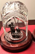 Ireland Waterford Nativity Pewter Holy Family Crystal Dome W/ Box