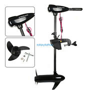 12v 800w 80lbs Electric Outboard Brush Motor Boat Engine W/3 Propeller Blades