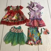 Lot Of Hasbro Baby Alive Doll Clothes Dresses - 4 Pieces Tinycorn Luna Forest