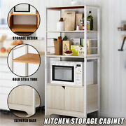 3 Tier Kitchen Bakers Rack Microwave Oven Stand Storage Cabinet Workstation E