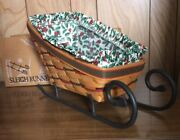 Longaberger 1997 Christmas Large Sleigh Basket Combo With Wrought Iron Runners
