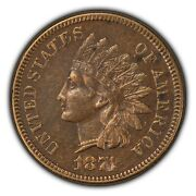 1874 1c Indian Head Small Cent - Xf/au Dets - Sku-b1413