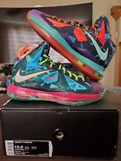 Vnds 100 Authentic Nike Lebron 10 X Andldquowhat The Mvpandrdquo Mens Size 10.5 Worn 1x Grail