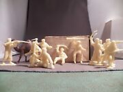 Marx 60mm Arab And Camel Recreation Lot 10 Figures 8 Different And Camel