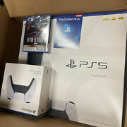 Sony Playstation 5 Console Disc Version New In Hand With Ps5 Extra Controller