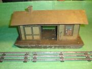Pre-war,tin Toy,ives, 0-gauge 115 Freight Train Station Litho Antique Railroad