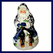 Fitz And Floyd Bristol Holiday Ceramic Cookie Jar New In Box Christmas Cookie