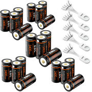 Lot 3v Usb 16340 Rechargeable Batteries 800mah Li-ion + Charger For Arlo Camera