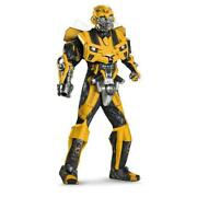 Used Transformers Costume Bumblebee Adult Cosplay Costume Yellow Color