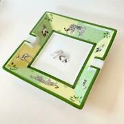 Hermes Ashtray Africa Elephant Animal Green Interior Accessory Case From Japan