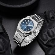 Watch Menand039s 40mm Automatic Mechanical Watch Stainless Steel Waterproof Watch